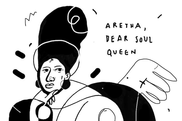 <p>Hommage dessiné à la chanteuse, reine et icône de la Soul Music.</p>